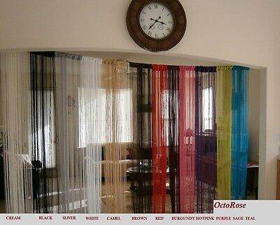 String Curtain for window, wall decor, door divider, room screen, party events