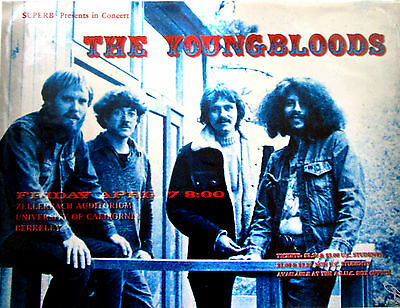 Youngbloods - UC Berkeley 1970 - 18x24 Thomas Morris Art Print * signed and num