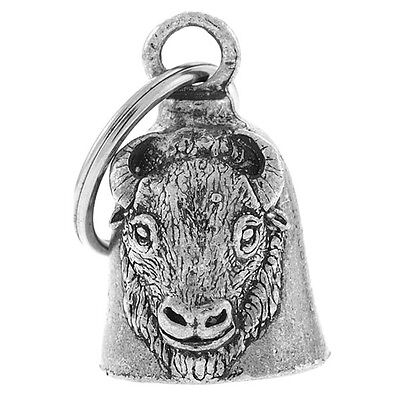 BUFFALO HEAD GUARDIAN BELL FOR HARLEY RIDER BELL MOTORCYCLE GUARDIAN BELL