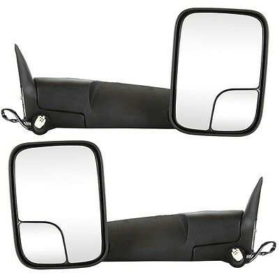 Pair Left & Right Power Heated Towing Side Mirrors For 98-02 Ram 1500 2500 3500