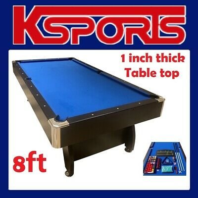 Pool Table  Pub Size 8Ft Snooker Billiard Table With Table Tennis Top - Blue / B