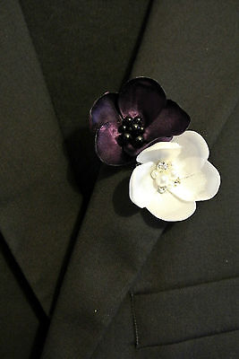 Premium Flower Boutonniere Lapel Pin Men's Wedding Accessory Brooch 8 variat.