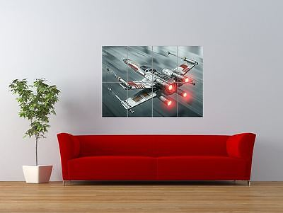 X Wing Fighter Star Wars Spaceship Giant Art Print Panel Poster Nor0205