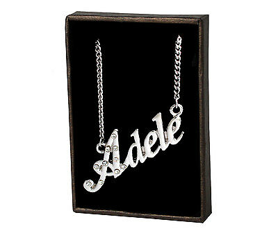 Name Necklace Adele – 18K Gold Plated | Wedding Pendant Valentines Unique Gift