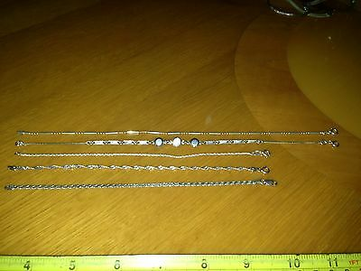 Sterling Silver Lot Of 5 Bracelets