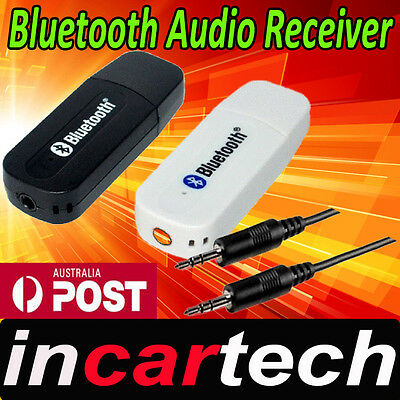 USB Bluetooth Wireless Music 3.5mm Dongle Audio Receiver Adapter A2DP Car Home.