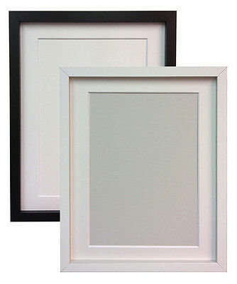 Black or White MDF Wood Photo Picture Frames with Black White or Ivory Mount RIO