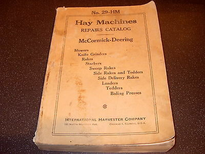 McCormick Deering No.29-HM Hay Machines Repairs Catalog 704 Pages - As Photo