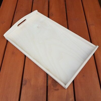 Plain Wood - Wooden Serving Tray 50cmx30cmx5.5cm Decoupage