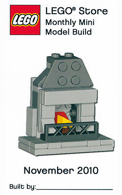 Constructibles® Fireplace Mini Model LEGO® Parts & Instructions Kit