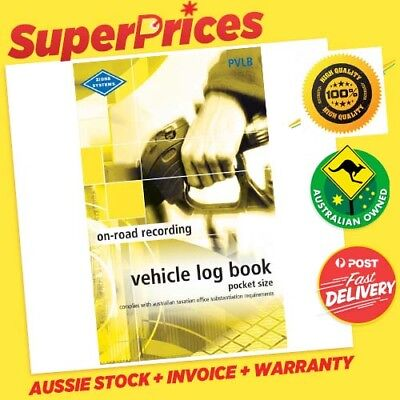 Zions Systems◉Pocket Size Vehicle Log Book Pvlb◉64 Pages◉Ato Compliant◉Car Truck