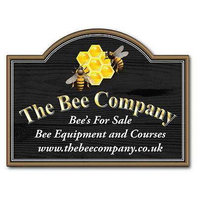 Personalised Bee Keeping Sign, Honey For Sale sign, Fully Weatherproof, Any Text