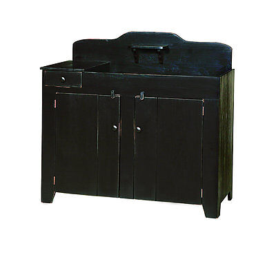 DRY SINK KITCHEN STORAGE CABINET Primitive Amish Handmade Farmhouse Furniture