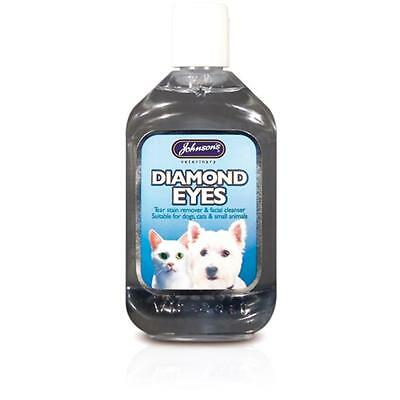 Johnsons Dog Cat Small Animal Diamond Eyes Tear Stain Remover Liquid 125ml 250ml