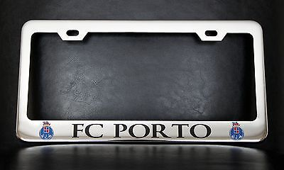 fc porto license plate frame custom made of chrome plated metal