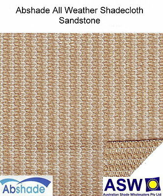 1.83m wide ALL WEATHER SHADECLOTH SANDSTONE Waterproof Coated Shade Cloth