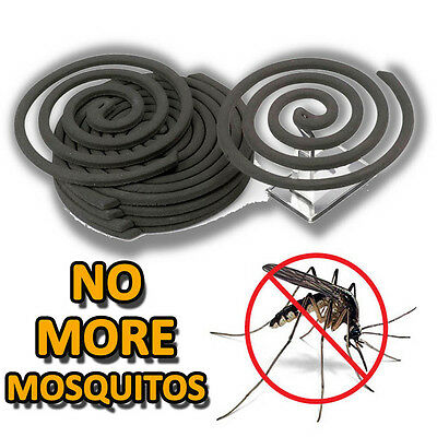 10 Smokeless Mosquito Insect Repellent Coils Stand Outdoor Fly Flies Bugs Midges