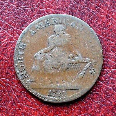 North America 1781 copper halfpenny