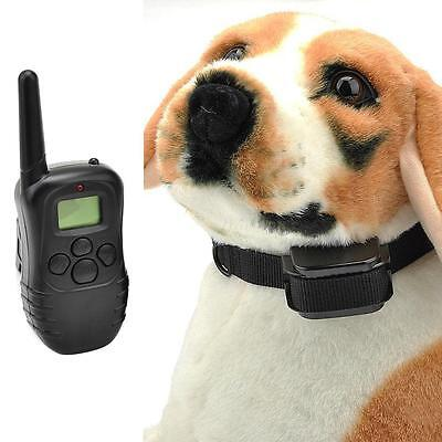 LCD 100 Level 300M Pet Dog Remote Control Training Electric Shock Collar TMPG