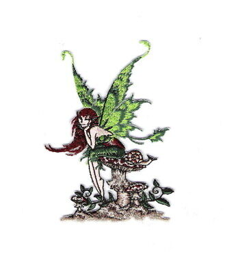 Amy Brown's Thinking of You Fairy Image Figure Embroidered Patch, NEW UNUSED