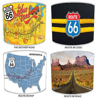 Route 66 Lampshades Ideal To Match American Route 66 Wall Decals & Stickers.