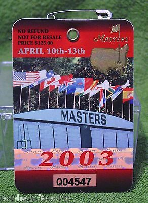 2003 Masters Badge-Ticket ~ Mike Weir Champion ~ 4 Day