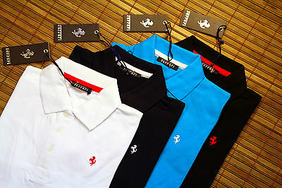 Orig FERRARI Polo Hemd Poloshirt Piguet! Kinder Herren T-Shirt Slim Fit Fashion