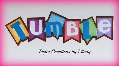 Craftecafe Mindy sports gymnastics title premade paper piecing for scrapbook