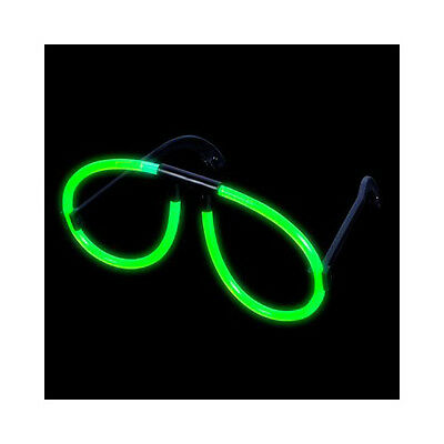 Green Glow Glasses (12 Pack) Glow Products Party Eyeglasses 1 Dozen