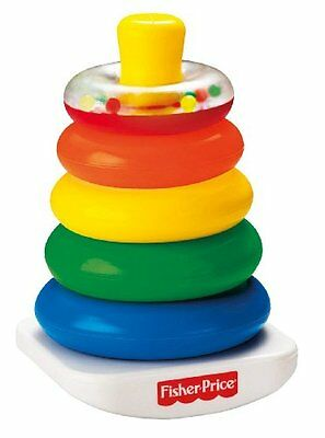 Fisher-Price Brilliant Basics Rock-A-Stack Baby Toy Kids Play Game Developmental