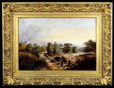 Exquisite Antique English Countryside Oil - Signed & Dated 1885