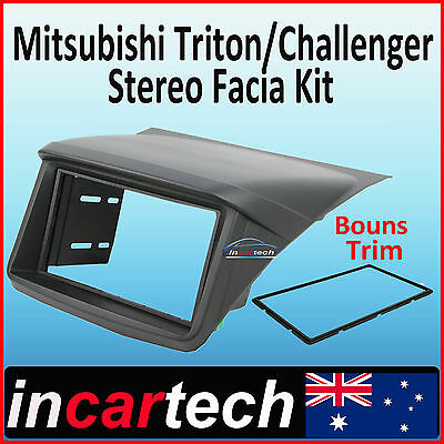 Mitsubishi Triton FACIA KIT fascia panel dash hood double-DIN install ML-MN 06+