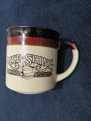 Vintage Hardee's Rise And Shine Homemade Biscuits Collectible Coffee Mug 1984