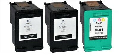 Remanufactured Black x 2 & Colour x 1 Ink Cartridge Pack for HP Photosmart C4280