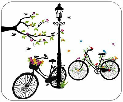 Mouse Pad Custom Personalized Thick Mousepad - Bicycle - Add Any Text Free