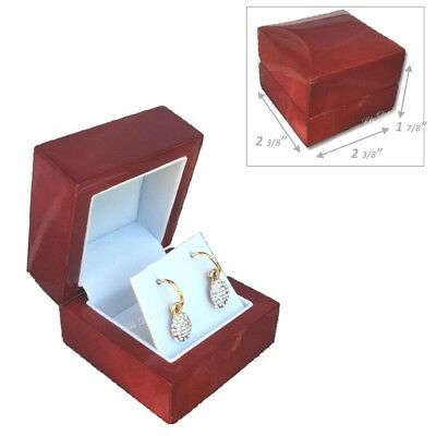 Super Quality Elegant Earring Box Birch Wood Earring Gift Boxes Wooden Box