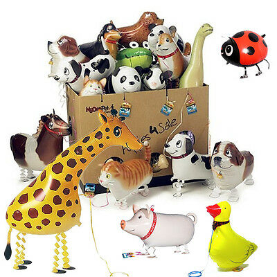 Kids Walking Pet Foil Balloon Animal Airwalker Helium Fun Birthday Parties Decor