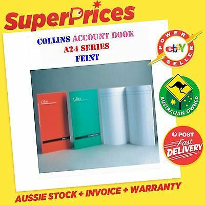Collins A24 Account Book Feint Analysis 24 Leaf A4 Stapled Soft Red Cover Oz