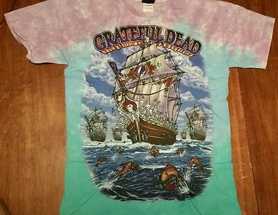9af2a554f New GRATEFUL DEAD Ship OF Fools TIE DYE T-Shirt DOUBLE SIDED LICENSED ROCK  SHIRT