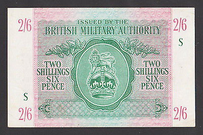 GREAT BRITAIN  2/6 Shillings ND 1943  XF/AU++  WWII - BRITISH MILITARY AUTHORITY