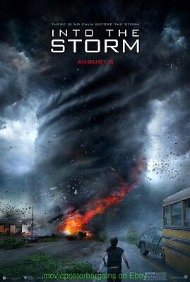 INTO THE STORM MOVIE POSTER DS 27x40 Advance Style 2014 TORNADO TWISTER Film
