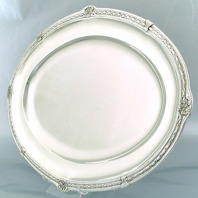 Antique French Sterling Silver Platter Tray Dish Centrepiece Plateau Minerva 950