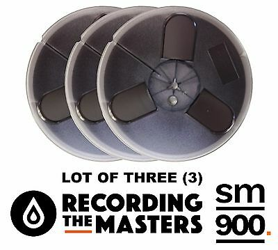 "Lot Of(3) Sm900 Rtm Pyral Rmg Rmgi Tape Reel To Reel 1/4"" X 1200' 7"" Plastic New"
