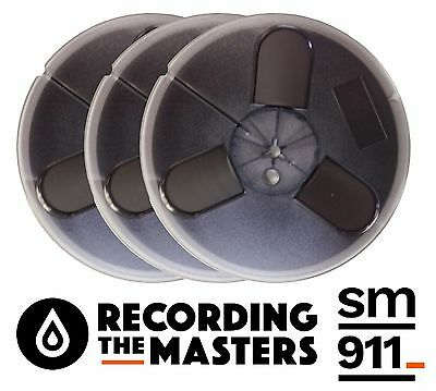 "Lot Of(3) Sm911 Rtm Pyral Rmg Rmgi Tape Reel To Reel 1/4"" X 1200' 7"" Plastic New"