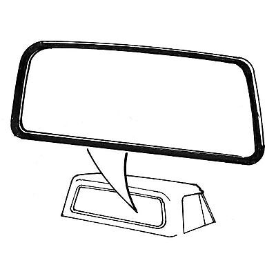 Ford Pickup Rear Window Rubber Seal USA Groove For Narrow Trim 1978 1979