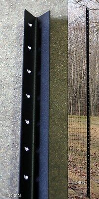 8' with 4' Fence Post Angle Steel Pkg of 5 deer garden | 8' above ground set up