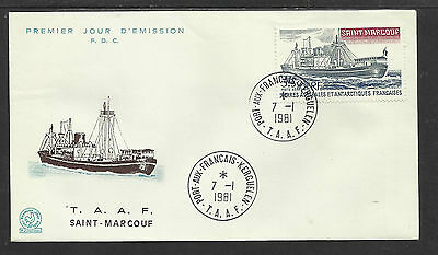 Taaf  French Antarctic 1981 Saint Marcouf Ship 1V Fdc