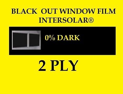 "48"" x 50 Feet  Black Out   Window film tint Extra  Dark 0%   USA Intersolar®"