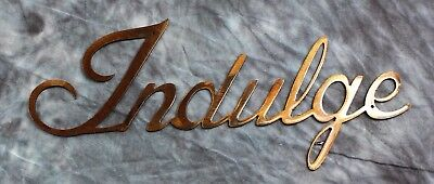 Indulge METAL ART WALL DECORATION COPPER/BRONZE PLATED