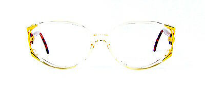 Vintage Roberto Capucci 750 Fancy Oval Large Pink Crystal Eyeglasses Italy NOS